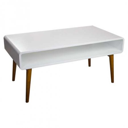 White Mid-Century Coffee Table