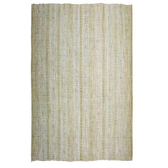 Natural Green Cotton Rug