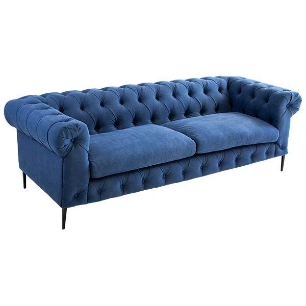 Blue Denim Couch