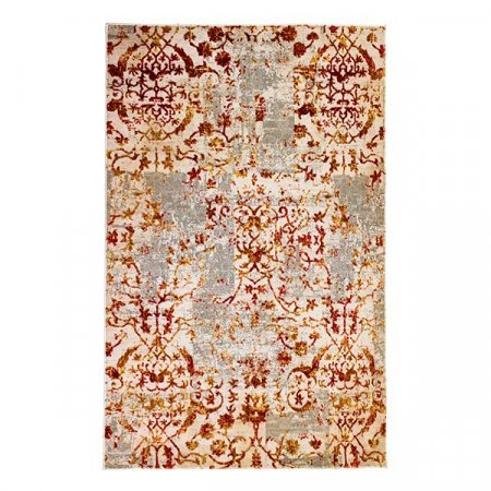 Gray Embellished Indian Rug