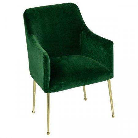 Green Velvet Elowen Chair