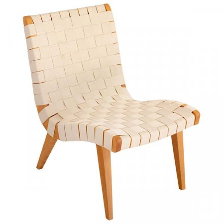 Ivory Basket Weave Chair