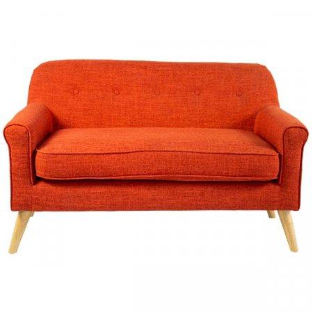 Orange Petite Sofa Front