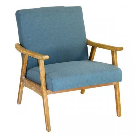Padded Blue Arm Chair
