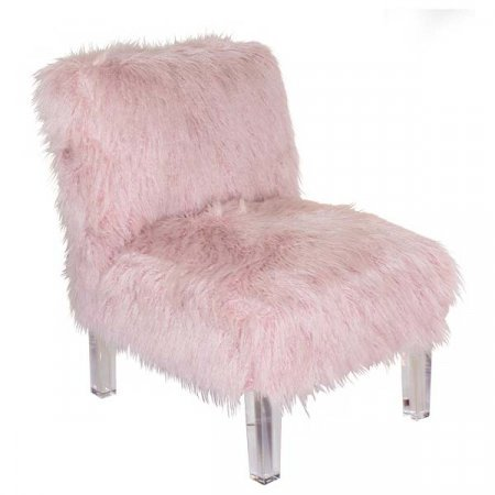 Pink Shaggy Chair