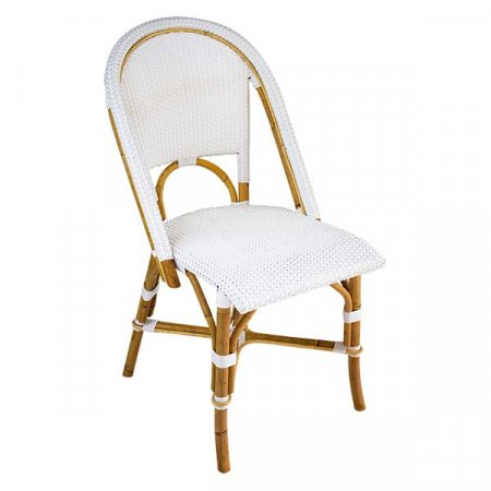 Riviera White Side Chair