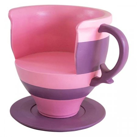 Teacup Chair Pink and Purple