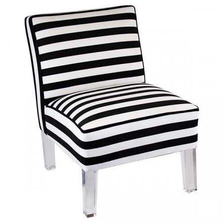 Black White Striped Chair
