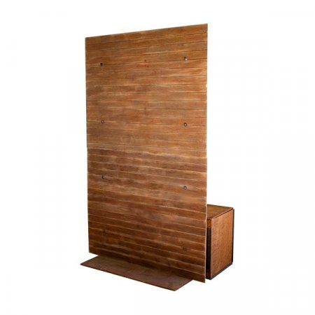 Wood Plank Bench Display
