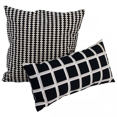 Assorted Black & White Pillows