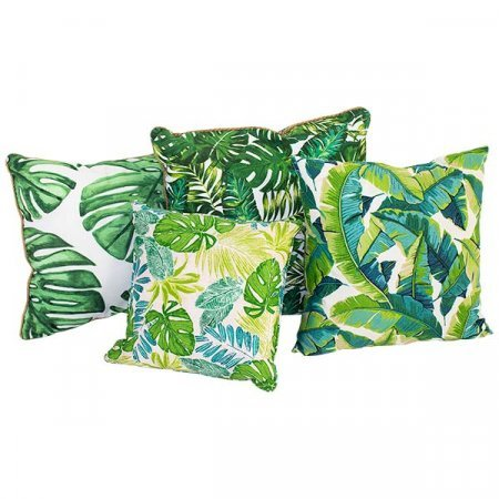 Assorted Tropical Leaf Pillows