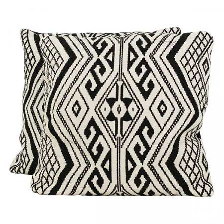 Black & White Pattern Pillow