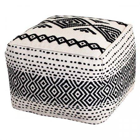 Black & White Pouf