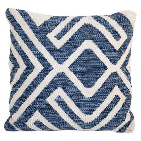 Blue Contemporary Pillow
