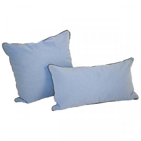 Blue Piped Pillow
