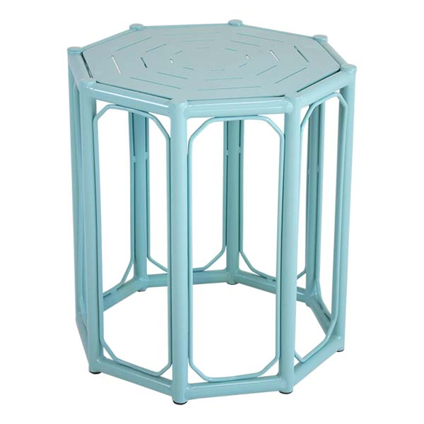 Caribbean Blue Regeant Side Table