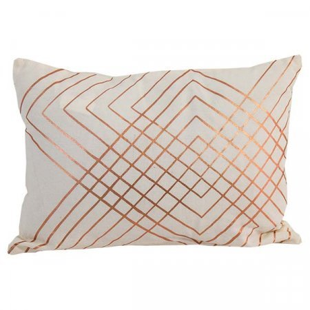 Copper Embellished Pillow