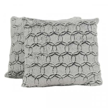 Furry Silver Pattern Pillow