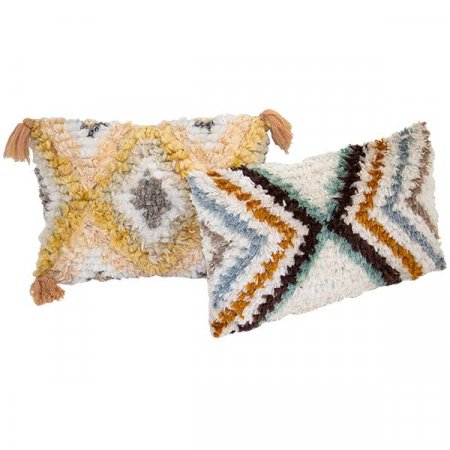 Geo Fringe Pillow