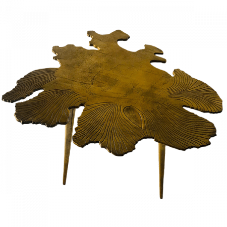 Inspired Environments Gold Amoeba Side Table Angle