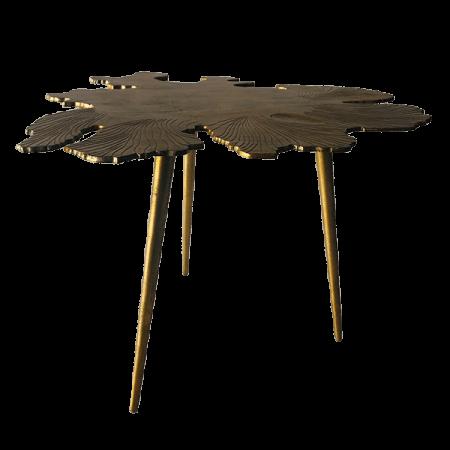 Inspired Environments Gold Amoeba Side Table