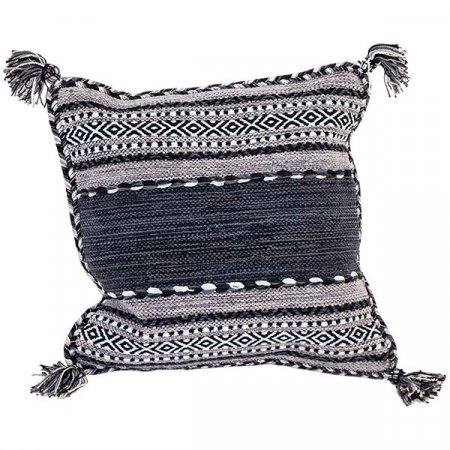Gray Black Aztec Pillow