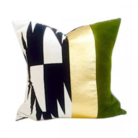 Green Gold Black Pillow