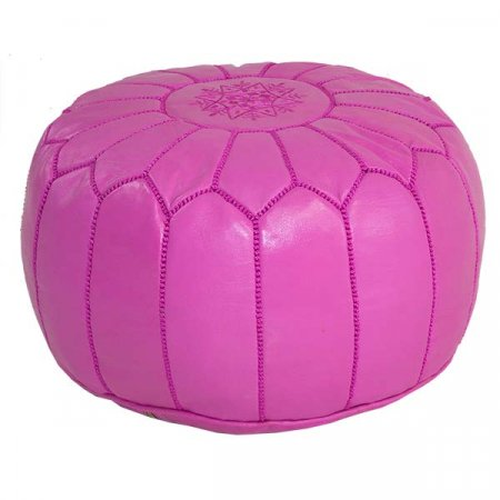 Hot Pink Moroccan Pouf