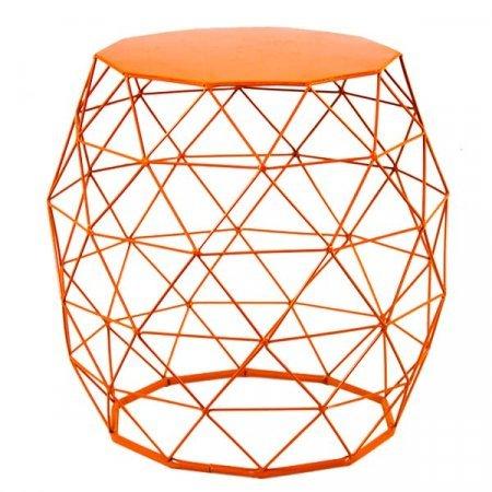 Orange Metal Basket Table