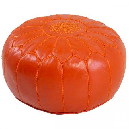 Orange Pink Moroccan Pouf