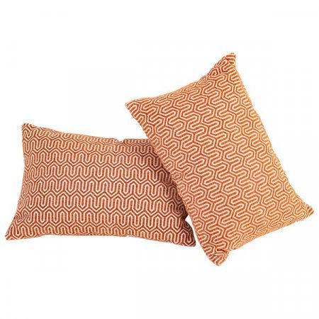 Orange Print Pillow