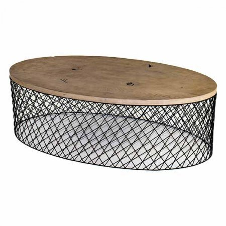 Oval Wood Top Table