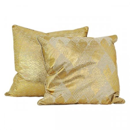 Shiny Gold Pattern Pillow