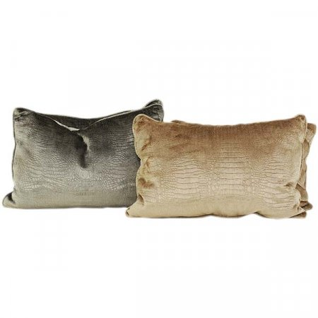 Silver Gold Snakeskin Pillow