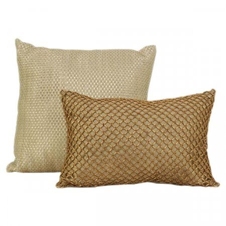 Textured Gold Pillow