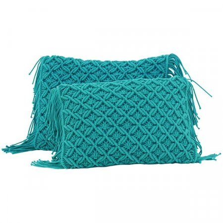 Knitted Turquoise Pillow
