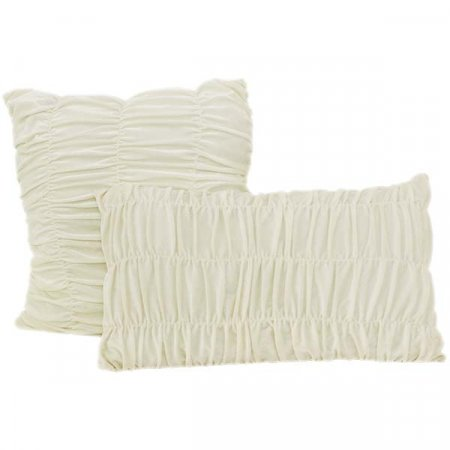 White Crinkle Pillow