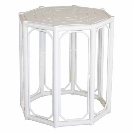 White Regeant Side Table