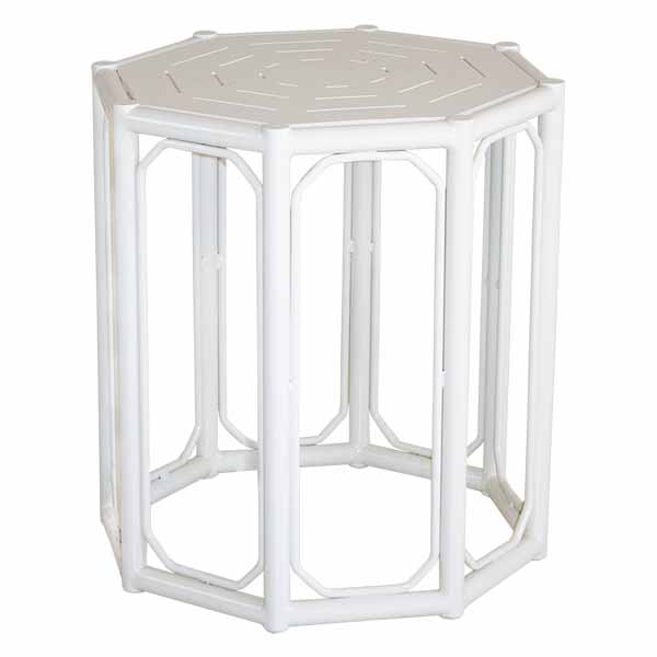 White Regeant Side Table