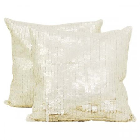 White Sequence Pillow
