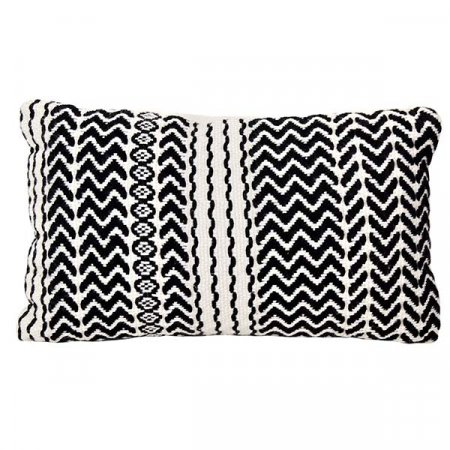 Inspired Environments Black and White Zigzag Pillow