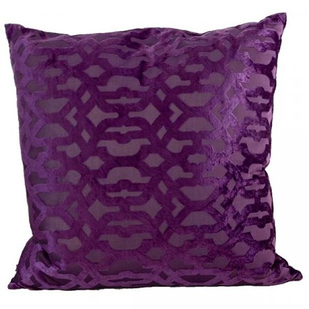 Inspired Environments Patterned Purple Velvet Pillow
