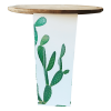 Inspired Environments Green Paddle Cactus Glow Table Angle