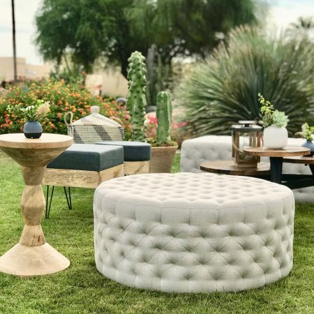 Inspired Environments Round Tufted Ottoman