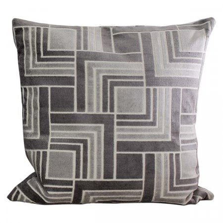 Inspired Environments Silver Geometric Pillow