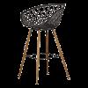 Inspired Environments Black Crosshatch Bar Stool