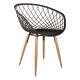Inspired Environments Black Crosshatch Dining Chair