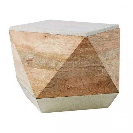 Marble Top Geometric Side Table IE Rental Inventory
