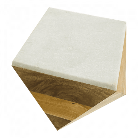 Inspired Environments Marble Top Wood Geo Table