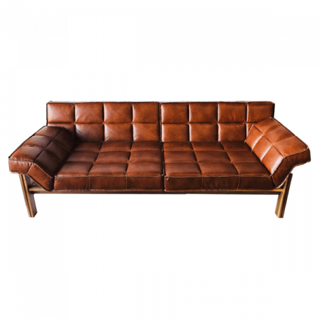 Inspired Environments Patches Leather Sofa